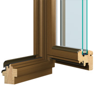 Stabile, elegante Holzfenster, Fenster aus Holz