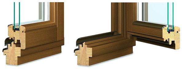Holzfenster Softline 68 aus Kiefer oder Meranti