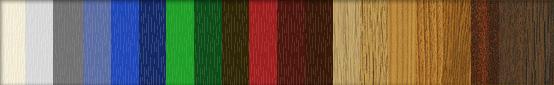 Farbpalette der Kunstoffsprossen - PVC