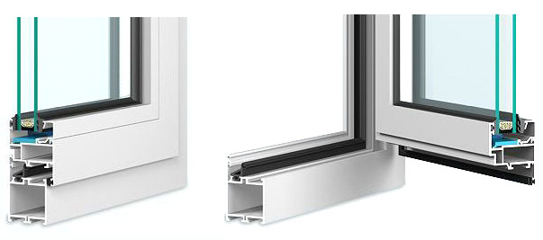 Aluminiumfenster MB-45 System Fenster Berlin