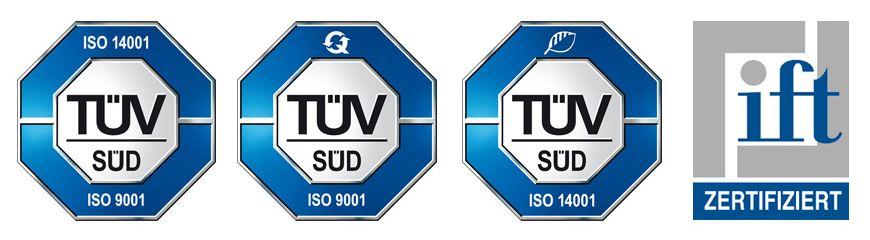 ISO Qualität - Zertifikate - fortgeschrittene Fenster Technologie